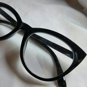 Betsey Johnson black oversized cat eye readers 2.0